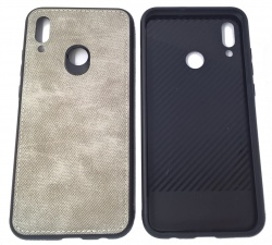 Etui Pokrowiec Forcell Denim Case Huawei P Smart 2019 Szary